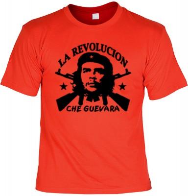 Top Qualität! HK_UCA_03_12404-P11 mit dem Motiv: <br><b>Revolution T-Shirt Che Guevara - La Revolucion in rot</b>,fällt sofort ins Auge und sorgt für einen gelungenen Auftritt.<br><br>T-shirt namenhafter Hersteller in bester Qualität, wie <b>Stedman</b> o