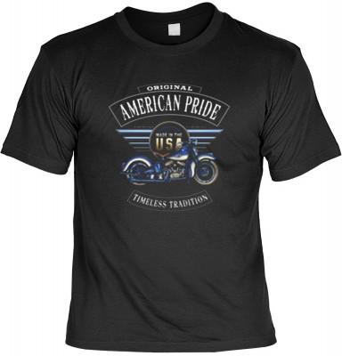 Top Qualität! HK_USA_01_13682-P16 mit dem Motiv: <br><b>Motorradfahrer T-Shirt American Pride Fb schwarz auch in 3xL 4xL 5xL</b>,fällt sofort ins Auge und sorgt für einen gelungenen Auftritt.<br><br>T-shirt namenhafter Hersteller in bester Qualität, wie <