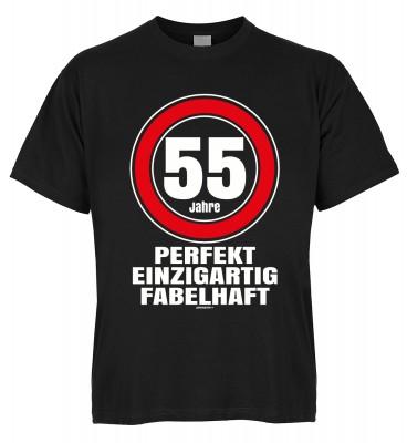 55 Jahre perfekt einzigartig fabelhaft T-Shirt Bio-Baumwolle