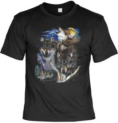 Top Qualität! <b> Mythologie der Ureinwohner Nordamerikas T-Shirt Wölfe und Indianerdorf in schwarz </b>,fällt sofort ins Auge und sorgt für einen gelungenen Auftritt.<br /><br />T-shirt namenhafter Hersteller in bester Qualität. <b><b>Angenehme u. weiche
