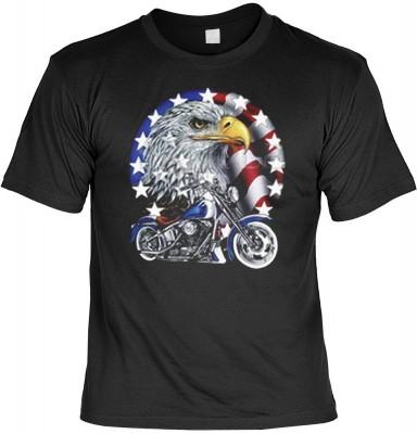 Top Qualität! HK_MTS_01_00237D1 mit dem Motiv: <br><b>Trucker LKW Fahrer T-shirt Bike with Eagle Fb schwarz</b>,fällt sofort ins Auge und sorgt für einen gelungenen Auftritt.<br><br>T-shirt namenhafter Hersteller in bester Qualität, wie <b>Stedman</b> ode