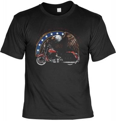 Top Qualität! HK_MTS_01_6192-P18 mit dem Motiv: <br><b>Biker Motorrad Tshirt One Life - One Country - One Bike Fb schwarz</b>,fällt sofort ins Auge und sorgt für einen gelungenen Auftritt.<br><br>T-shirt namenhafter Hersteller in bester Qualität, wie <b>S