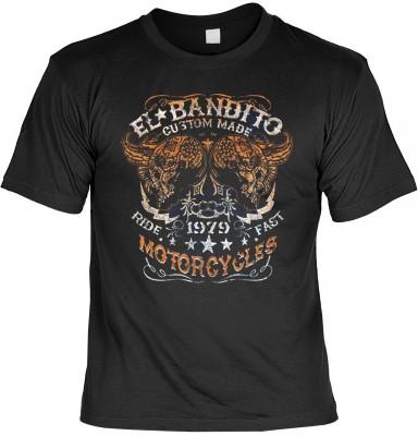 El Bandito mit der Artikel-Nr.: HK_Mot_01_17778D1<b>Biker - Motiv T-Shirt</b><br /><br /><br /><span style=text-decoration: underline >Angaben zum Produkt vom Hersteller:</span><br /><br /><b><b><i>Das Material ist 100% Baumwolle</i></b><b>Die Tshirts hab