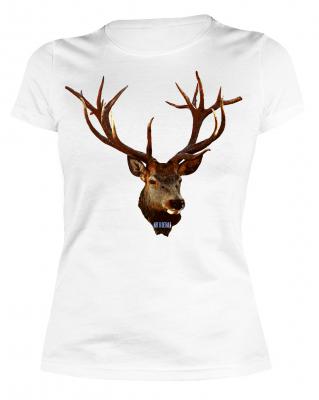 Damen Hirsch T-Shirt für Jägerin