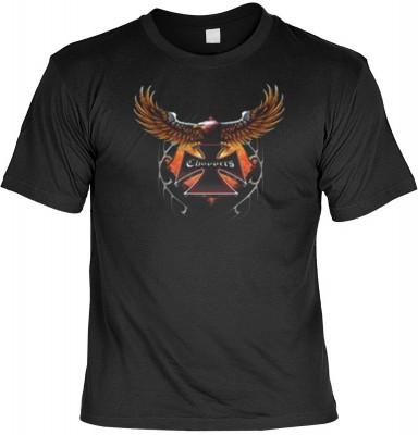 Top Qualität! HK_MTS_01_10939-P16 mit dem Motiv: <br><b>Adler Biker T-shirt Choppers Fb schwarz</b>,fällt sofort ins Auge und sorgt für einen gelungenen Auftritt.<br><br>T-shirt namenhafter Hersteller in bester Qualität, wie <b>Stedman</b> oder <b>Fruit o