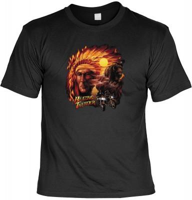 Top Qualität! HK_MTS_01_10817-P16 mit dem Motiv: <br><b>Buffalo Indianer Tshirt Blazing thunder Fb schwarz</b>,fällt sofort ins Auge und sorgt für einen gelungenen Auftritt.<br><br>T-shirt namenhafter Hersteller in bester Qualität, wie <b>Stedman</b> oder