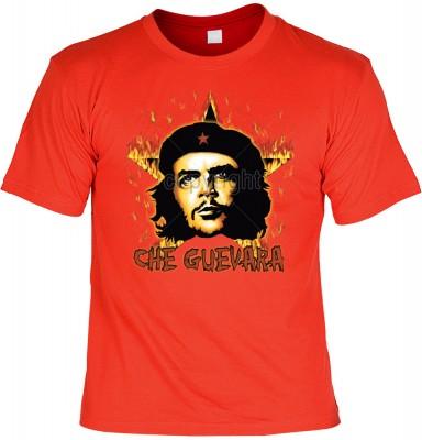 Top Qualität! HK_UCA_03_12104-P16 mit dem Motiv: <br><b>Revolution T-Shirt Che Guevara mit Flammenstern in rot</b>,fällt sofort ins Auge und sorgt für einen gelungenen Auftritt.<br><br>T-shirt namenhafter Hersteller in bester Qualität, wie <b>Stedman</b>