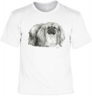 Pekingese mit der Artikel-Nr.: HK_Mot_02_13290-P13<b>Biker - Motiv T-Shirt</b><br><br><br><b><u>Angaben zum Produkt vom Hersteller:</u><br><br><b><i>Das Material ist 100% Baumwolle</b><b>Die Tshirts haben ein Schulter zu Schulter Nackenband für besseren T