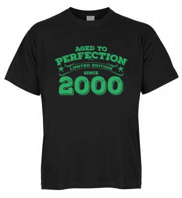 Aged to perfection Limited Edition since 2000 T-Shirt Bio-Baumwolle