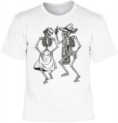 Dancing skeletons mit der Artikel-Nr.: HK_Mot_02_12673-P11<b>Biker - Motiv T-Shirt</b><br><br><br><b><u>Angaben zum Produkt vom Hersteller:</u><br><br><b><i>Das Material ist 100% Baumwolle</b><b>Die Tshirts haben ein Schulter zu Schulter Nackenband für be