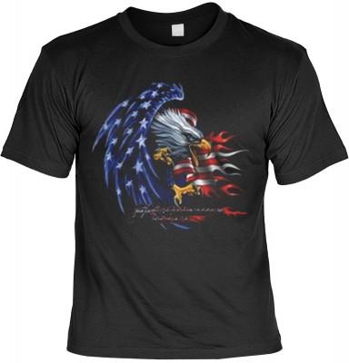 Top Qualität! HK_MTS_01_11628-P16 mit dem Motiv: <br><b>Stars and Stripes Adler T-shirt Eagle Fb schwarz</b>,fällt sofort ins Auge und sorgt für einen gelungenen Auftritt.<br><br>T-shirt namenhafter Hersteller in bester Qualität, wie <b>Stedman</b> oder <