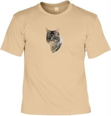 Top Qualität! HK_MTS_14_6059-P16 mit dem Motiv: <br><b>anhängliche katzen Tshirt Maine Coon Fb sand</b>,fällt sofort ins Auge und sorgt für einen gelungenen Auftritt.<br><br>T-shirt namenhafter Hersteller in bester Qualität, wie <b>Stedman</b> oder <b>Fru
