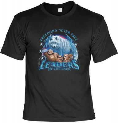 Top Qualität! <b> Mythologie der Ureinwohner Nordamerikas T-Shirt Leader of the Pack in schwarz </b>,fällt sofort ins Auge und sorgt für einen gelungenen Auftritt.<br /><br />T-shirt namenhafter Hersteller in bester Qualität. <b><b>Angenehme u. weiche Qua