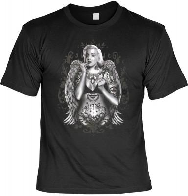 Tattoo Marilyn mit der Artikel-Nr.: HK_Mot_01_15127-P17<b>Biker - Motiv T-Shirt</b><br><br><br><b><u>Angaben zum Produkt vom Hersteller:</u><br><br><b><i>Das Material ist 100% Baumwolle</b><b>Die Tshirts haben ein Schulter zu Schulter Nackenband für besse