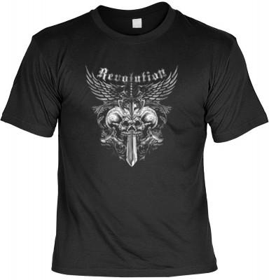 Top Qualität! HK_USA_01_13153-P14 mit dem Motiv: <br><b>Motorradfahrer T-Shirt Revolution Fb schwarz auch in 3xL 4xL 5xL</b>,fällt sofort ins Auge und sorgt für einen gelungenen Auftritt.<br><br>T-shirt namenhafter Hersteller in bester Qualität, wie <b>St