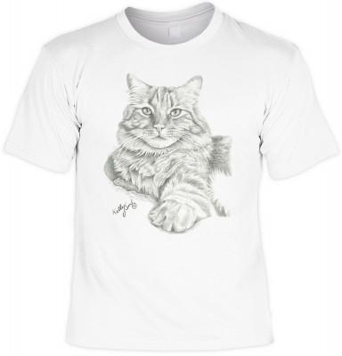 Orange tabby cat <b>Biker - Motiv T-Shirt</b><br /><br /><b>Angaben zum Produkt vom Hersteller:<br /><br /><b>Das Material ist 100% Baumwolle</b><b>. Die Tshirts haben ein Schulter zu Schulter Nackenband für besseren Tragekomfort. </b><b>Die Shirts haben