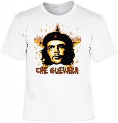 Top Qualität! HK_UCA_02_12104-P16 mit dem Motiv: <br><b>Revolution T-Shirt Che Guevara mit Flammenstern in weiss</b>,fällt sofort ins Auge und sorgt für einen gelungenen Auftritt.<br><br>T-shirt namenhafter Hersteller in bester Qualität, wie <b>Stedman</b