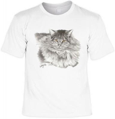 Long haired tabby cat <b>Biker - Motiv T-Shirt</b><br /><br /><b>Angaben zum Produkt vom Hersteller:<br /><br /><b>Das Material ist 100% Baumwolle, </b><b>Die Tshirts haben ein Schulter zu Schulter Nackenband für besseren Tragekomfort, </b><b>Die Shirts h