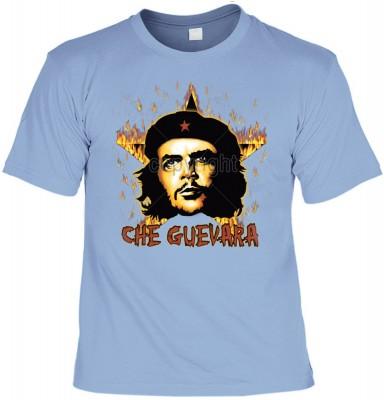 Top Qualität! HK_UCA_15_12104-P16 mit dem Motiv: <br><b>Revolution T-Shirt Che Guevara mit Flammenstern in skyblau</b>,fällt sofort ins Auge und sorgt für einen gelungenen Auftritt.<br><br>T-shirt namenhafter Hersteller in bester Qualität, wie <b>Stedman<