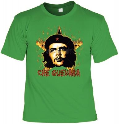 Top Qualität! HK_UCA_16_12104-P16 mit dem Motiv: <br><b>Revolution T-Shirt Che Guevara mit Flammenstern in hell-grün</b>,fällt sofort ins Auge und sorgt für einen gelungenen Auftritt.<br><br>T-shirt namenhafter Hersteller in bester Qualität, wie <b>Stedma