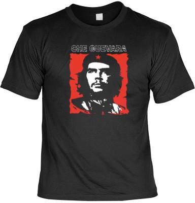 Top Qualität! HK_UCA_01_11211-P16 mit dem Motiv: <br><b>Revolution T-Shirt Che Guevara in schwarz</b>,fällt sofort ins Auge und sorgt für einen gelungenen Auftritt.<br><br>T-shirt namenhafter Hersteller in bester Qualität, wie <b>Stedman</b> oder <b>Fruit