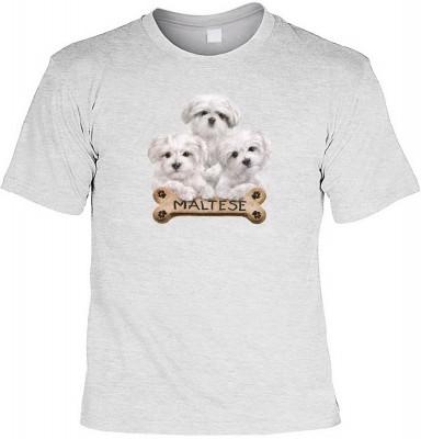 Maltese with bone mit der Artikel-Nr.: HK_Mot_07_11032-P15<b>Biker - Motiv T-Shirt</b><br><br><br><b><u>Angaben zum Produkt vom Hersteller:</u><br><br><b><i>Das Material ist 100% Baumwolle</b><b>Die Tshirts haben ein Schulter zu Schulter Nackenband für be