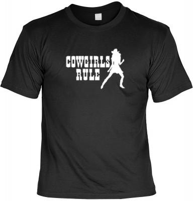 Top Qualität! HK_UCA_01_12142-P5 mit dem Motiv: <br><b>Faszination Cowgirl T-Shirt Cowgirl Rule in schwarz</b>,fällt sofort ins Auge und sorgt für einen gelungenen Auftritt.<br><br>T-shirt namenhafter Hersteller in bester Qualität, wie <b>Stedman</b> oder