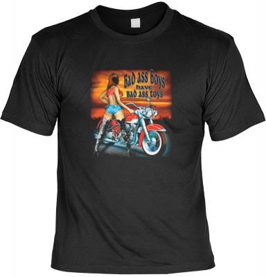 Top Qualität! HK_MTS_01_5354-P16 mit dem Motiv: <br><b>Biker Tshirt: Bad Ass Boys Fb schwarz</b>,fällt sofort ins Auge und sorgt für einen gelungenen Auftritt.<br><br>T-shirt namenhafter Hersteller in bester Qualität, wie <b>Stedman</b> oder <b>Fruit of t