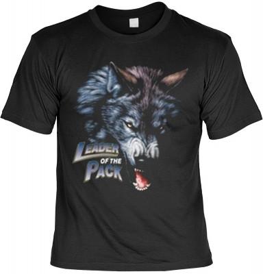 Top Qualität! HK_UCA_01_6194-P16 mit dem Motiv: <br><b>Mythologie der Ureinwohner Nordamerikas T-Shirt Leader of the Pack in schwarz</b>,fällt sofort ins Auge und sorgt für einen gelungenen Auftritt.<br><br>T-shirt namenhafter Hersteller in bester Qualitä