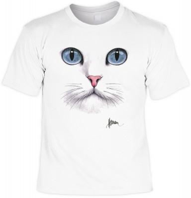 Big blue eyed cat mit <b>Biker - Motiv T-Shirt</b><br /><br /><b>Angaben zum Produkt vom Hersteller:<br /><br /><b>Das Material ist 100% Baumwolle. </b><b>Die Tshirts haben ein Schulter zu Schulter Nackenband für besseren Tragekomfort. </b><b>Die Shirts h