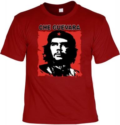 Top Qualität! HK_UCA_22_11211-P16 mit dem Motiv: <br><b>Revolution T-Shirt Che Guevara in dunkelrot</b>,fällt sofort ins Auge und sorgt für einen gelungenen Auftritt.<br><br>T-shirt namenhafter Hersteller in bester Qualität, wie <b>Stedman</b> oder <b>Fru