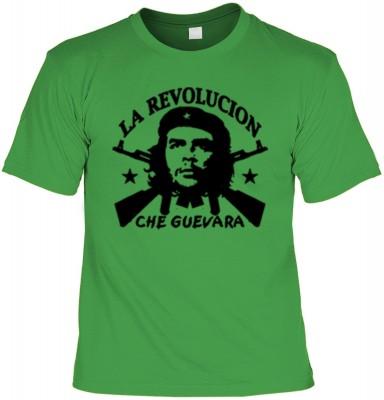 Top Qualität! HK_UCA_16_12404-P11 mit dem Motiv: <br><b>Revolution T-Shirt Che Guevara - La Revolucion in hell-grün</b>,fällt sofort ins Auge und sorgt für einen gelungenen Auftritt.<br><br>T-shirt namenhafter Hersteller in bester Qualität, wie <b>Stedman