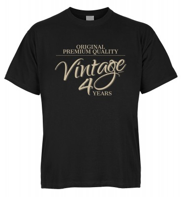 Original Premium Quality Vintage 40 Years T-Shirt Bio-Baumwolle