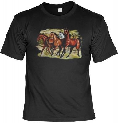 Top Qualität! HK_MTS_01_7644-P16 mit dem Motiv: <br><b>Tier T-Shirt Three Horses Fb schwarz</b>,fällt sofort ins Auge und sorgt für einen gelungenen Auftritt.<br><br>T-shirt namenhafter Hersteller in bester Qualität, wie <b>Stedman</b> oder <b>Fruit of th