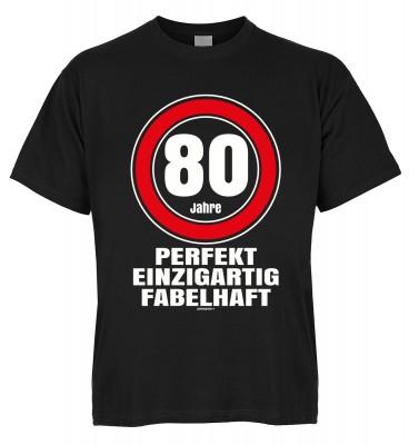 80 Jahre perfekt einzigartig fabelhaft T-Shirt Bio-Baumwolle