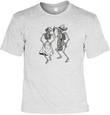 Dancing skeletons mit der Artikel-Nr.: HK_Mot_07_12673-P11<b>Biker - Motiv T-Shirt</b><br><br><br><b><u>Angaben zum Produkt vom Hersteller:</u><br><br><b><i>Das Material ist 100% Baumwolle</b><b>Die Tshirts haben ein Schulter zu Schulter Nackenband für be