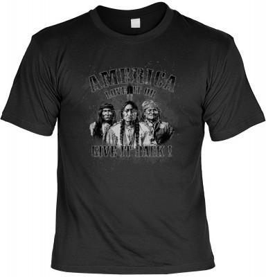 Top Qualität! <b> Mythologie der Ureinwohner Nordamerikas T-Shirt America - Love it or give it back in schwarz </b>,fällt sofort ins Auge und sorgt für einen gelungenen Auftritt.<br /><br />T-shirt namenhafter Hersteller in bester Qualität. <b><b>Angenehm