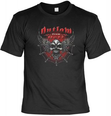 Top Qualität! HK_MTS_01_11631-P16 mit dem Motiv: <br><b>Totenkopf Halloween T-shirt Outlaw from Hell Fb schwarz</b>,fällt sofort ins Auge und sorgt für einen gelungenen Auftritt.<br><br>T-shirt namenhafter Hersteller in bester Qualität, wie <b>Stedman</b>