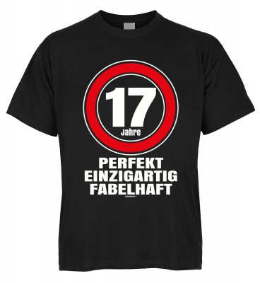 17 Jahre perfekt einzigartig fabelhaft T-Shirt Bio-Baumwolle